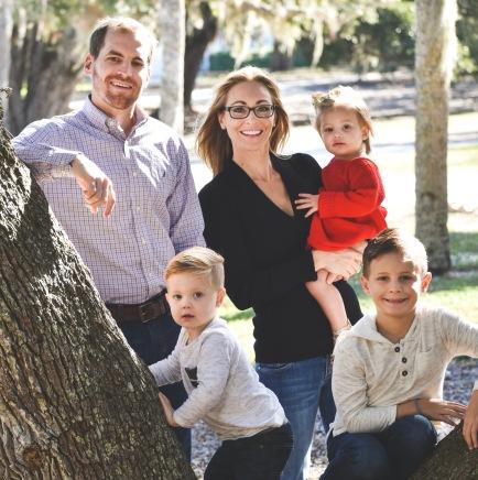 Chiropractor Dr Bryan Wells family portrait